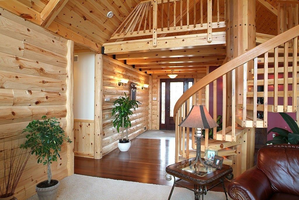 Half Log Siding And Pre Finished Knotty Pine Paneling Knotty Pine Paneling Knotty Pine Walls Log Siding