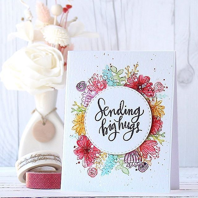 My watercolour floral wreath card for the @simonsaysstamp My Favorite Release Blog Hop!! I used my Wild Beauty stamp set!  #simonsaysstamp #sssmyfavorite #watercolor #watercolouring #floral #flowers #wreath #floralwreath #papercrafts #cardmaking #stamping #stamp #card #handmade #handmadecard #mothersday #핸드메이드 #카드 #꽃카드 #리스 #스탬핑 #꽃 #수채화 #워터칼라 #prettypinkposh #cleardroplets