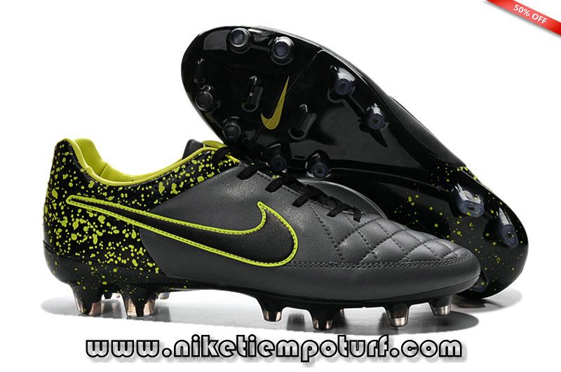 competitive price 5772b 10ebe Nike Tiempo Legend V FG Soccer Boots black Pomo yellow