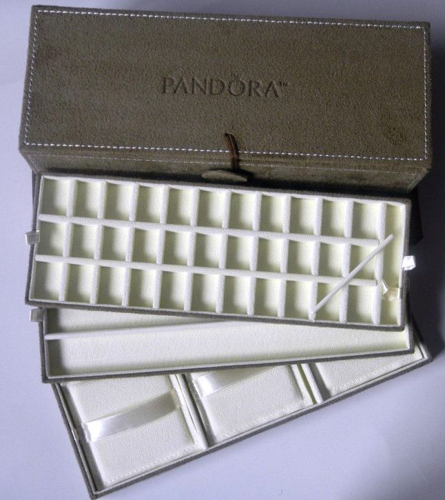AUTHENTIC NEW Pandora Brown Suede Jewelry Box With GIFT