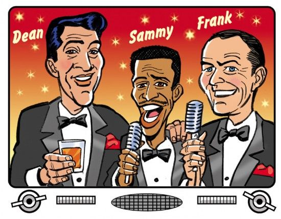 Image result for clipart the rat pack