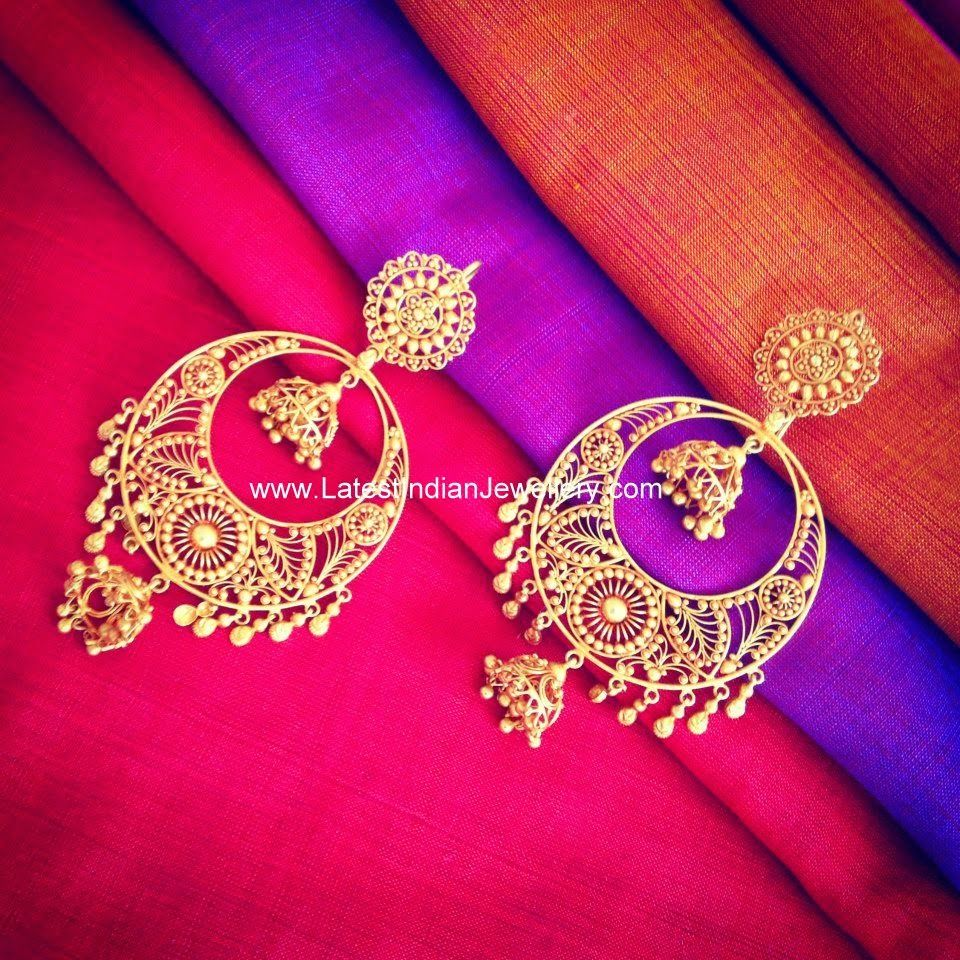 Hand Crafted Pure Gold Earrings | Gold, Jewel and Indian jewelry
