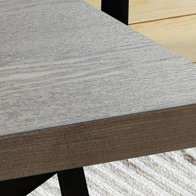 Camaran Industrial Coffee Table Gray Christopher Knight Home