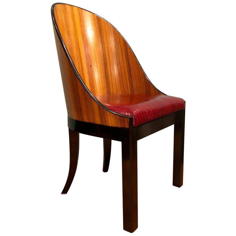 Pescetta Chair Customizable Zebrano Wood Seats Black Saber Legs