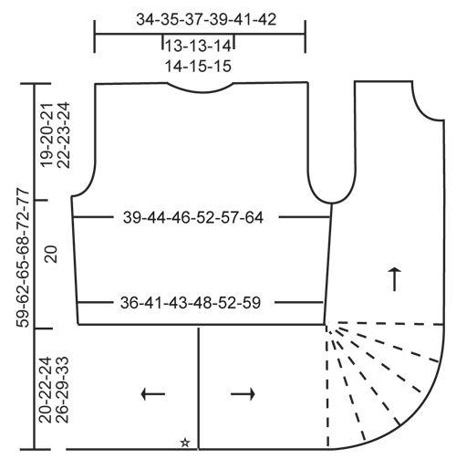 """Enchanted / DROPS 157-25 - Gebreid DROPS vest met valse patentsteek en verkorte toeren van """"Nepal"""". Maat S-XXXL - Free pattern by DROPS Design"""