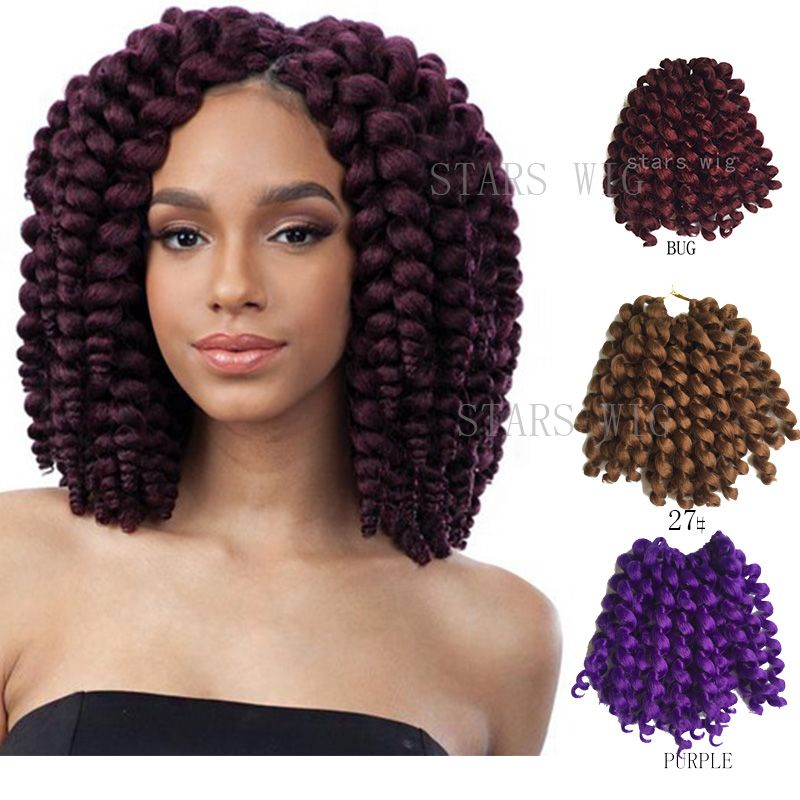 Freetress Ombre Wand Curl Janet Collection Synthetic Kanekalon Crochet Braids Noir 2x Bounce Twist Braid 10inch