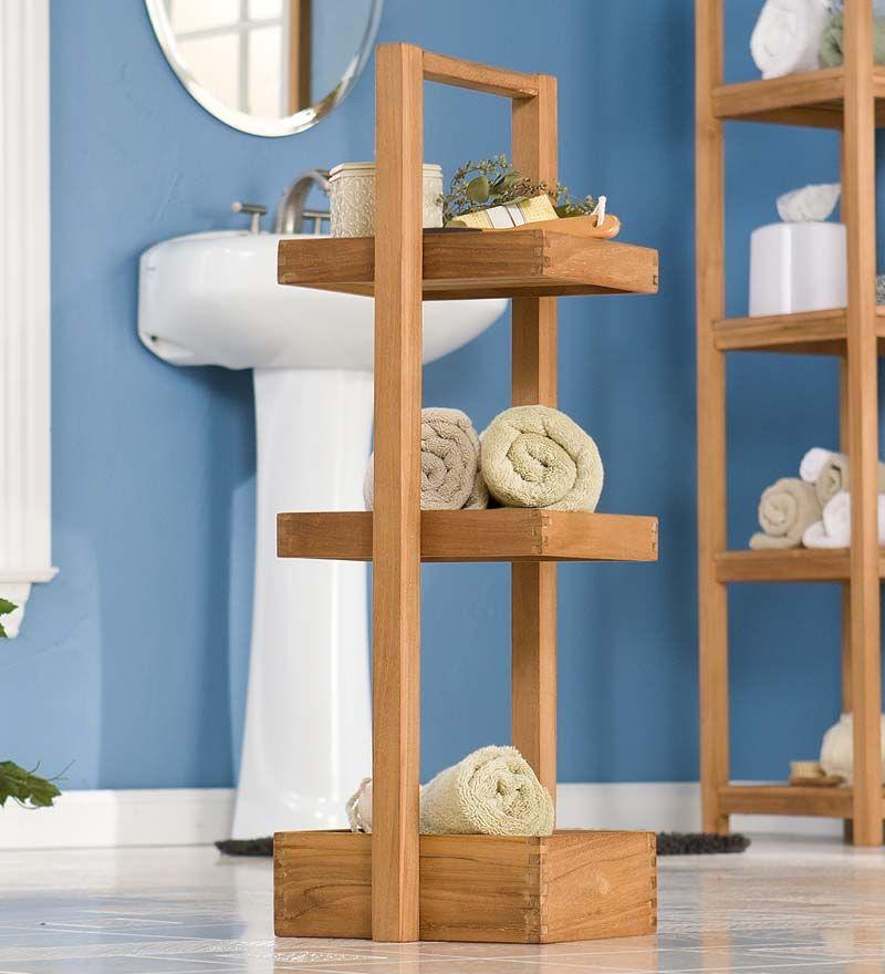 3-Tiered Teak Shower Organizer | Decor | Pinterest | Teak, Bathroom ...