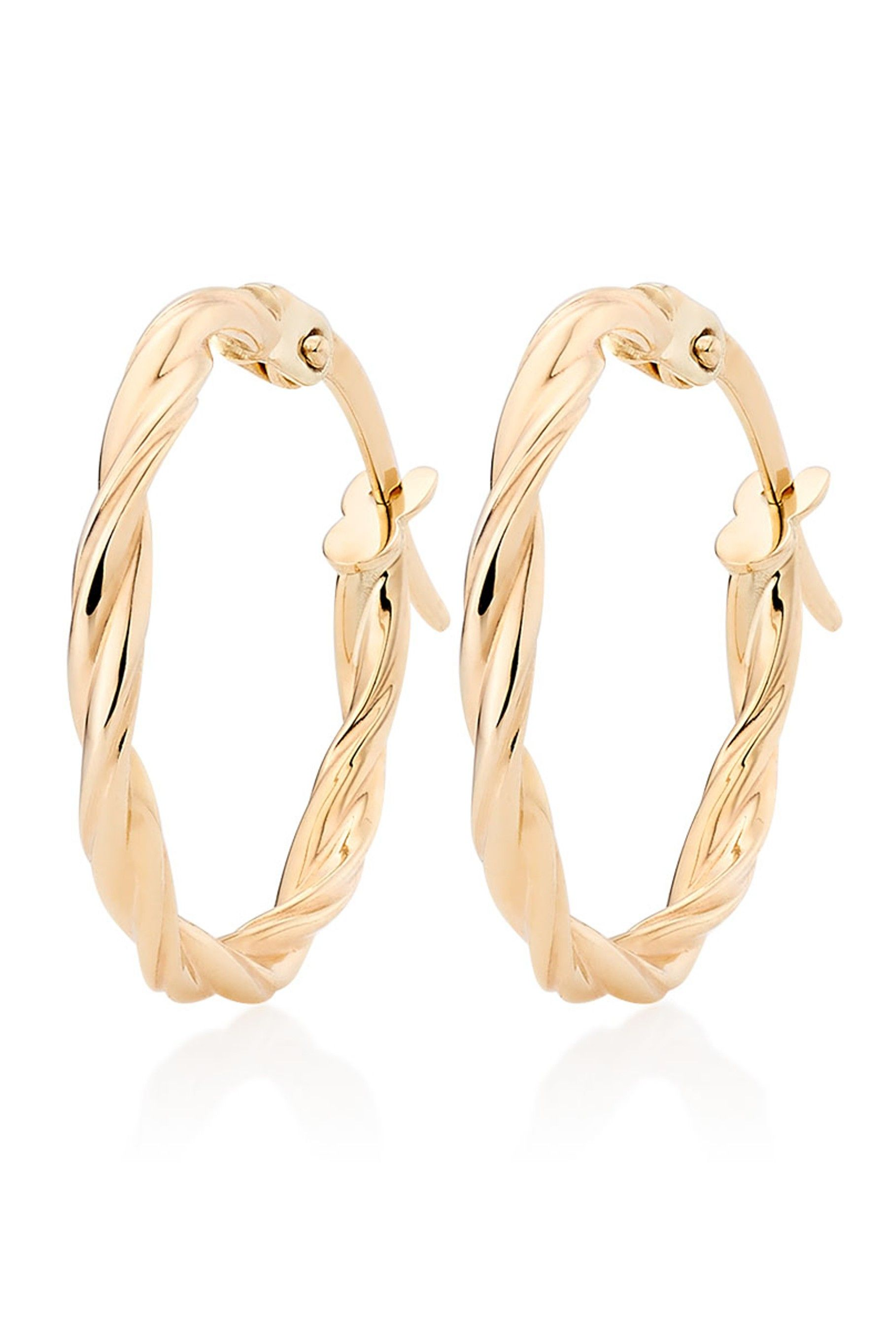 db13cb3ae Womens Beaverbrooks 9ct Gold Twist Hoop Earrings - Gold | Products ...