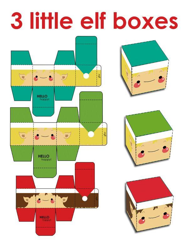 Merry Christmas Elf Gift Box by *hellohappycrafts on deviantART