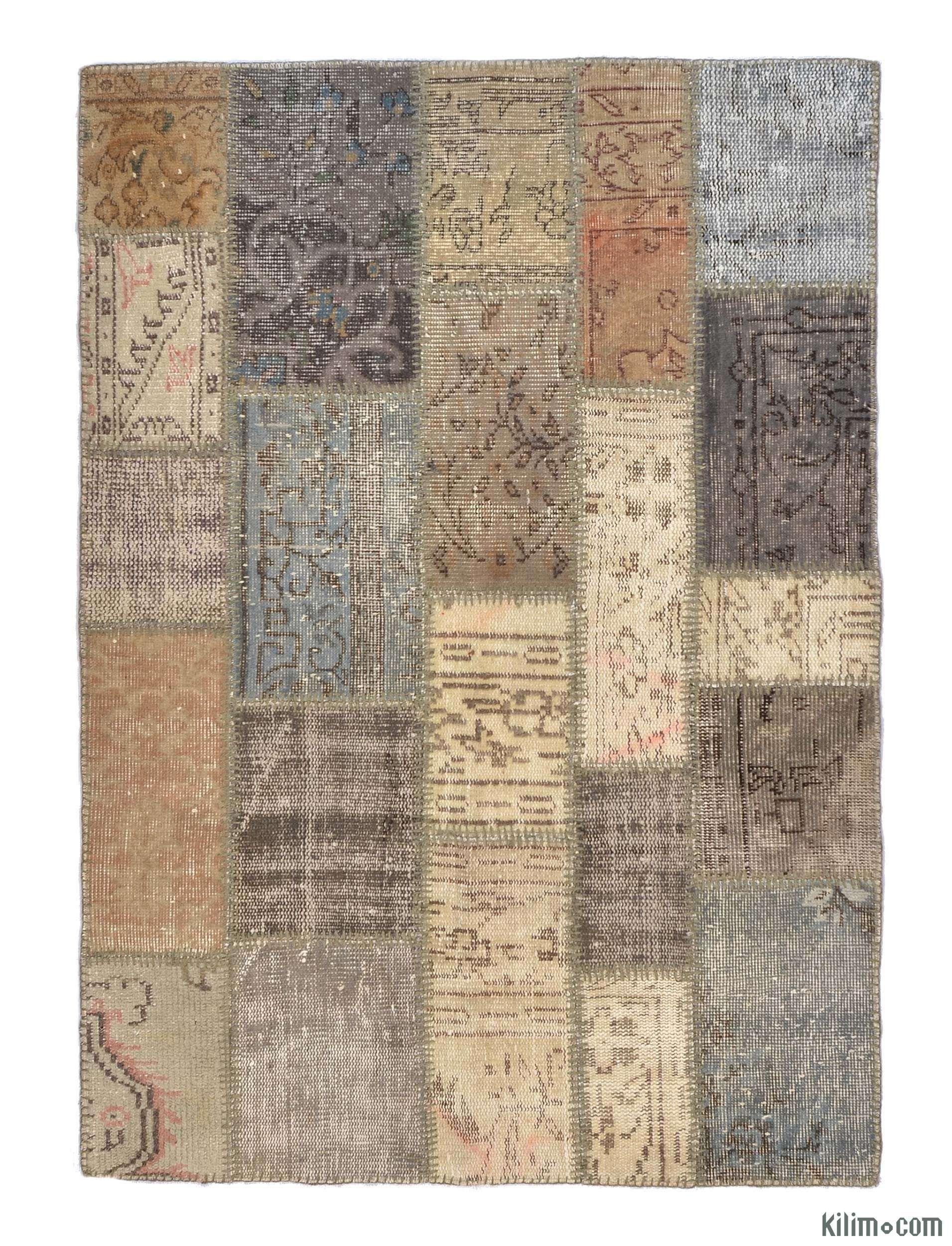 K0005373 Over Dyed Turkish Patchwork Rug Kilim Rugs Overdyed Vintage Hand