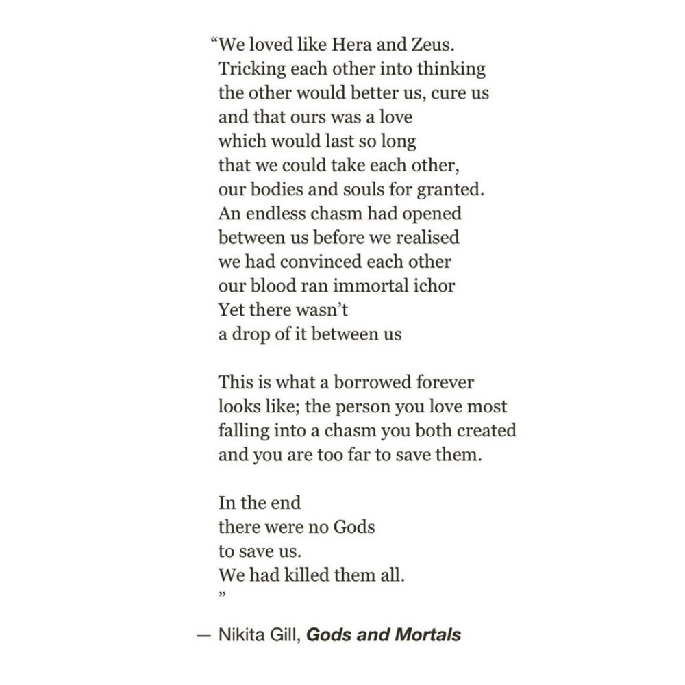 Nikita Gillon Toxic Loves Hera And Zeus And Humans Being So Cruel That They Kill Gods For More Myth References And In 2020 Goddess Quotes Toxic Love Mythology Poetry