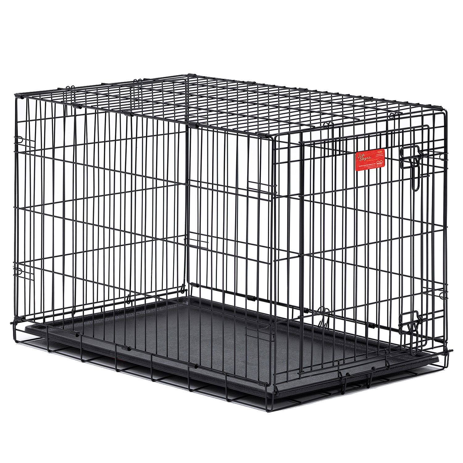 Life Stages dog crates have a thick wire gauge for added durability ...