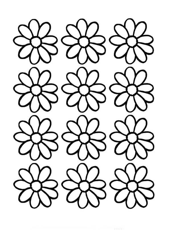 Daisy flower printable coloring pages coloring page for Flower outline coloring page