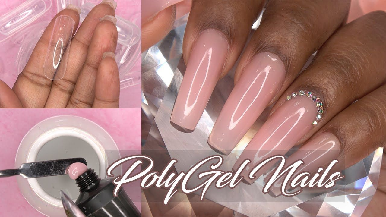 Polygel Nails With Dual Forms Polygel Tutorial Makartt Polygel Kit Nails At Home Youtube Polygel Nails Natural Gel Nails Nail Kit