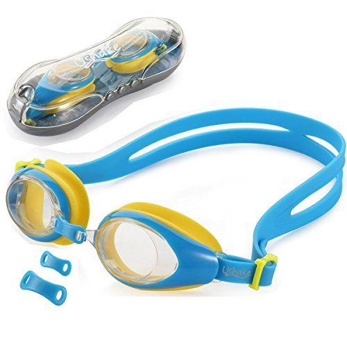 16fcd5d7607 Kids Child Swim Goggle UShake Antifog UV Protection Soft Silicone Frame Kid  Child Swimming Goggles for