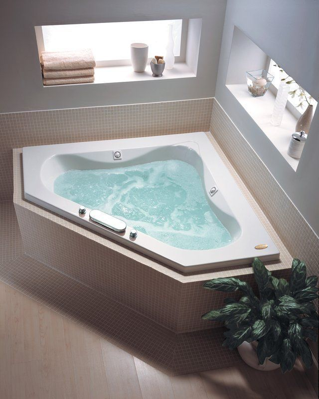 Impressing Corner Jacuzzi Bath On Tub Whirlpool Pinterest ...