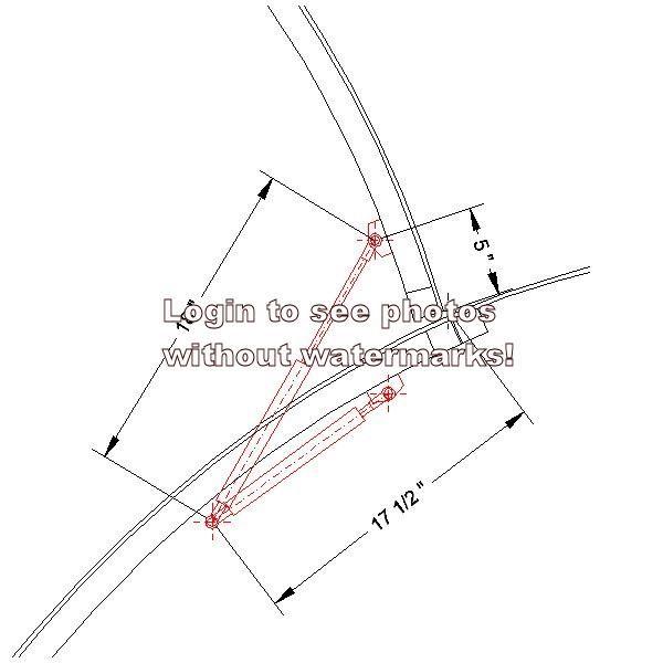 gas strut geometry