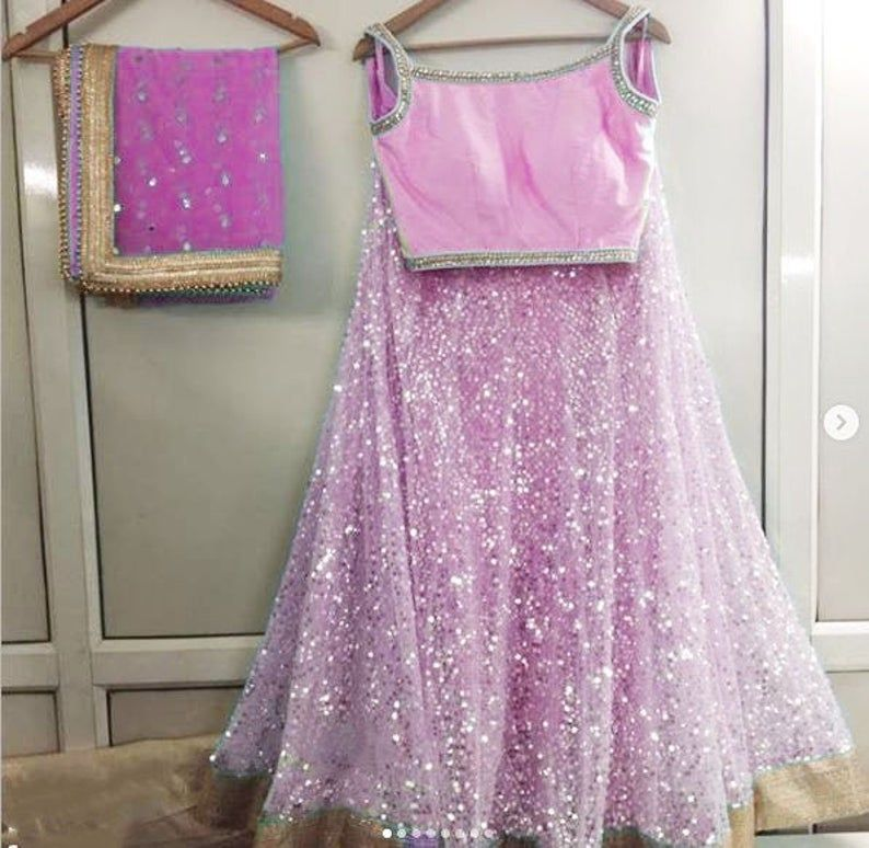Pink Indian Lehenga Wedding Party wear Designer chaniya choli. Ethnic clothes from India. Made to Or #chaniyacholi