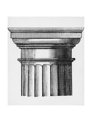 'Capital with Abacus and Echinus, Detail from Doric Column' Giclee Print - | Art.com