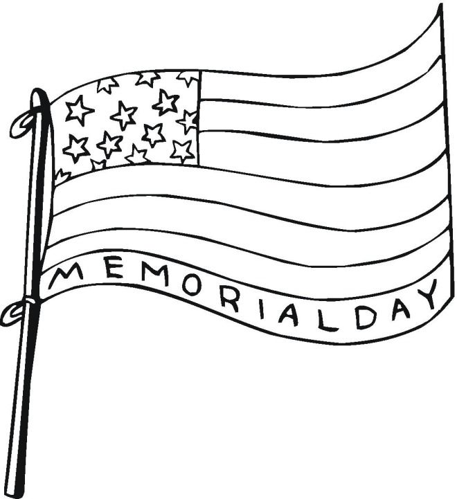 Memorial Day Coloring Pages Memorial Day Coloring Pages Flag