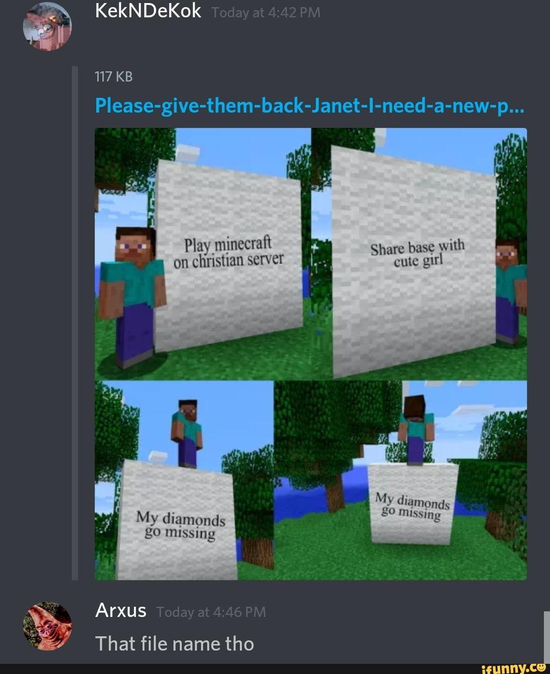 Minecraft Gru Discord Ifunny Minecraft Memes Minecraft Funny Funny Memes