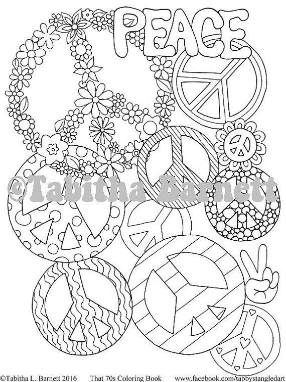 That 70s Coloring Book PDF Version By TabbysTangledArt On Etsy