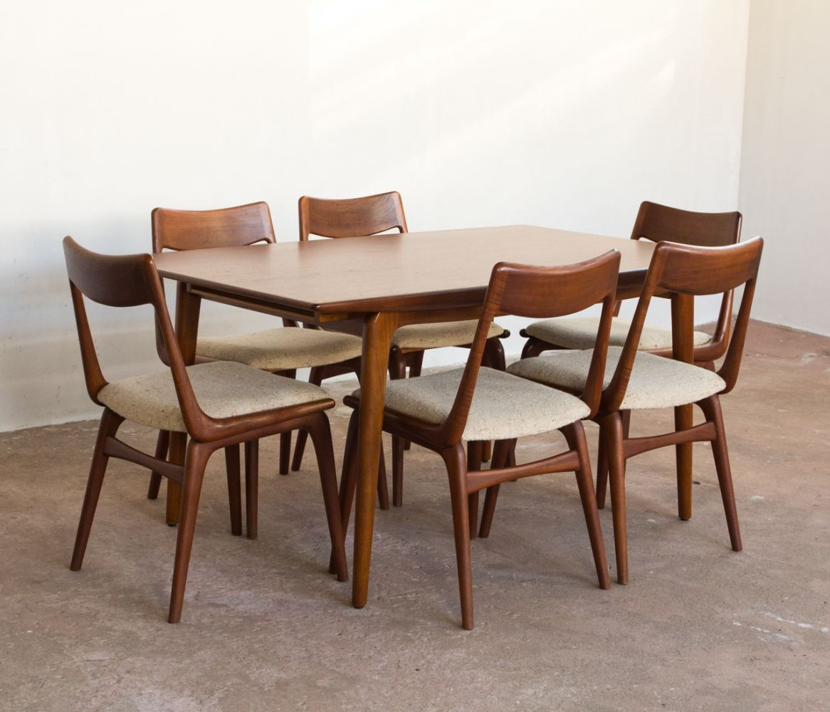 For Sale Dining Set In Teak By Alfred Christensen For Slagelse Mobelvaerk Dining Set Teak Dining