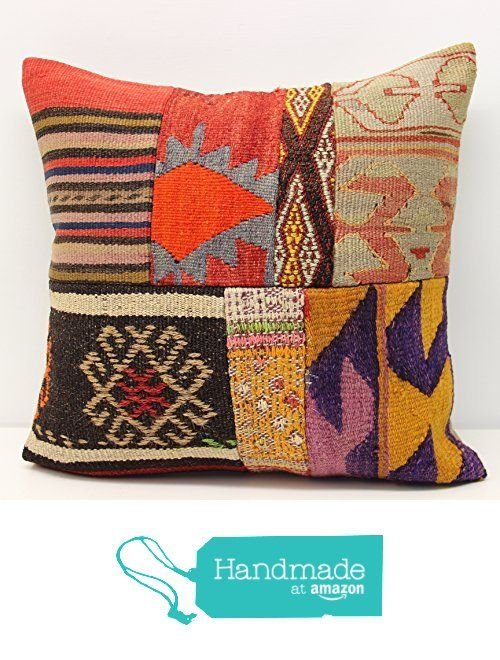 Decorative Patchwork kilim pillow cover 18x18 inch (45x45 cm) Handmade Kilim pillow cover Sofa Decor Accent Hand woven Cushion Cover from Kilimwarehouse https://www.amazon.com/dp/B01N7KU3MQ/ref=hnd_sw_r_pi_dp_Oe-wyb8QFKSN5 #handmadeatamazon