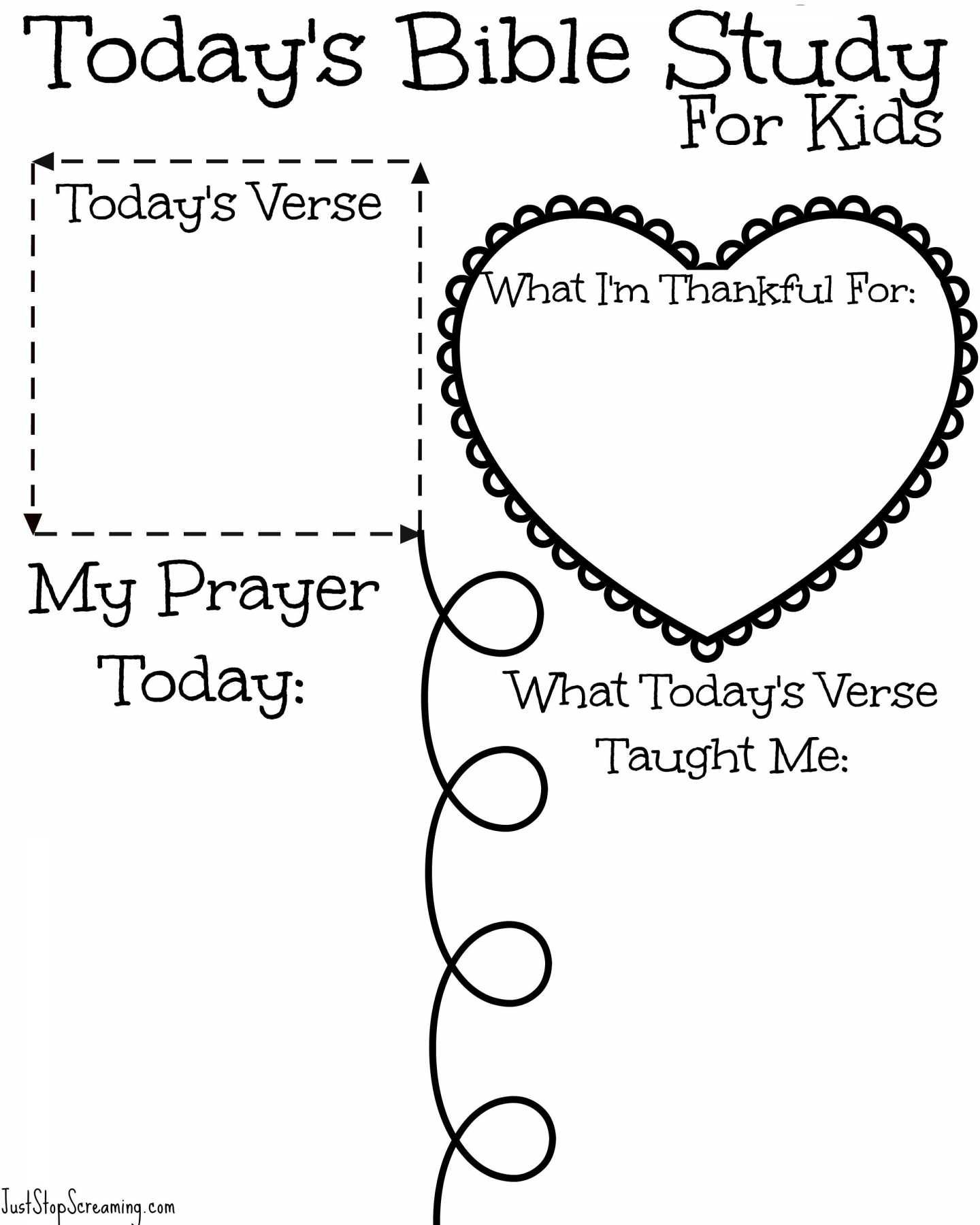 Kids Bible Study Worksheets Free Bible Study Printable For