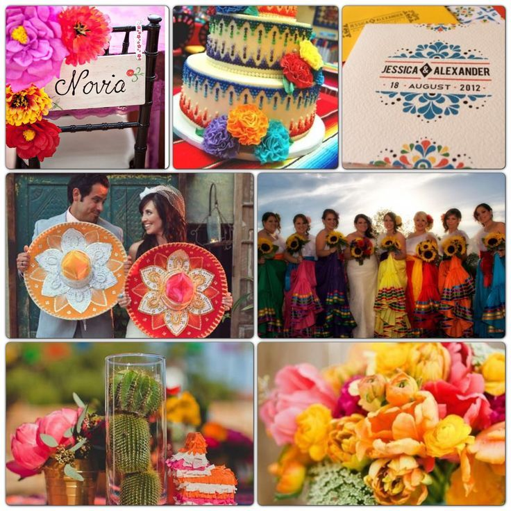 Traditional Mexican Wedding Ideas Mexican Colorful Wedding Theme
