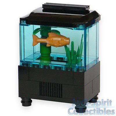 Lego custom creation aquarium set with fish plants for Toy fish tank