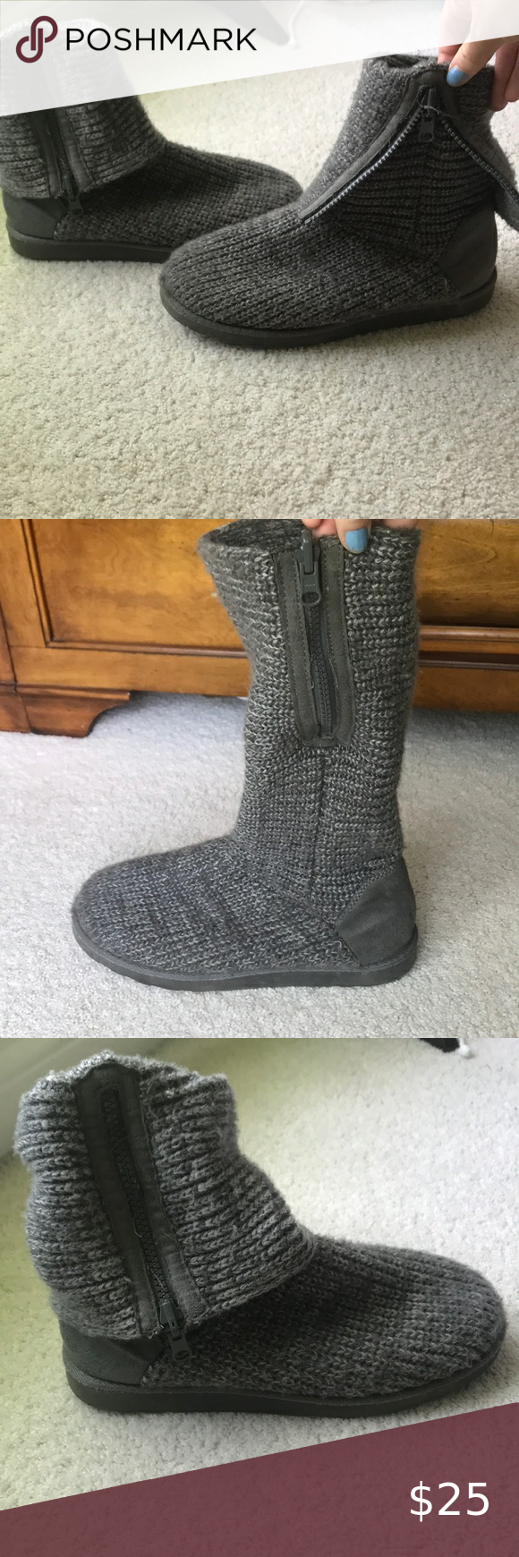Kohl's So Grey knitted sweater boots in