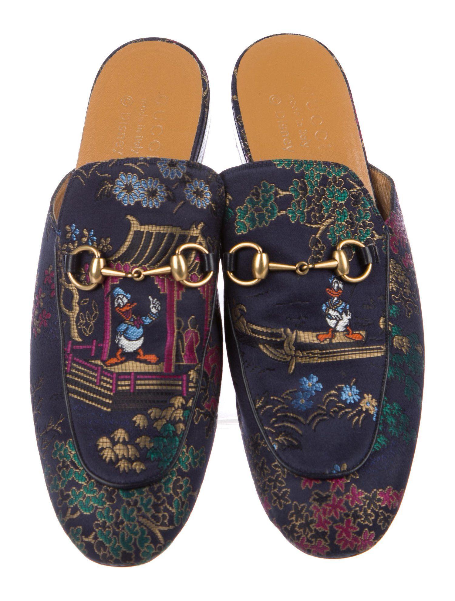 3bec2d35a Gucci x Disney 2017 Donald Duck Princetown Slippers #Disney #Gucci #Donald