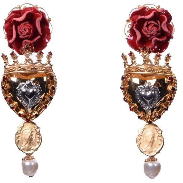 and jewelry crown on earrings polyvore liked featuring pin dolce rose gabbana