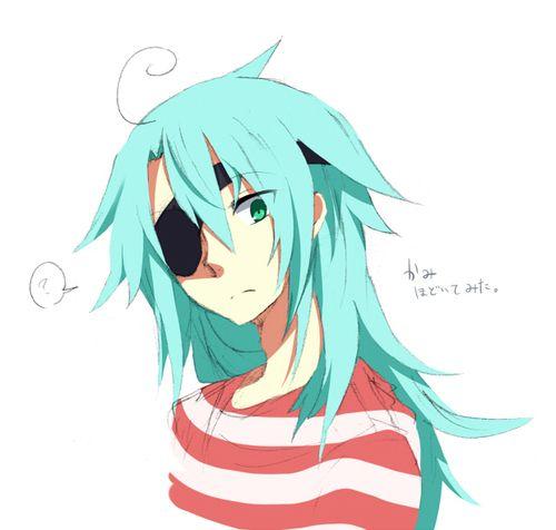 Imagen De Blue Hair Eye Patch And Green Eyes Happy Tree Friends Anime Art Anime
