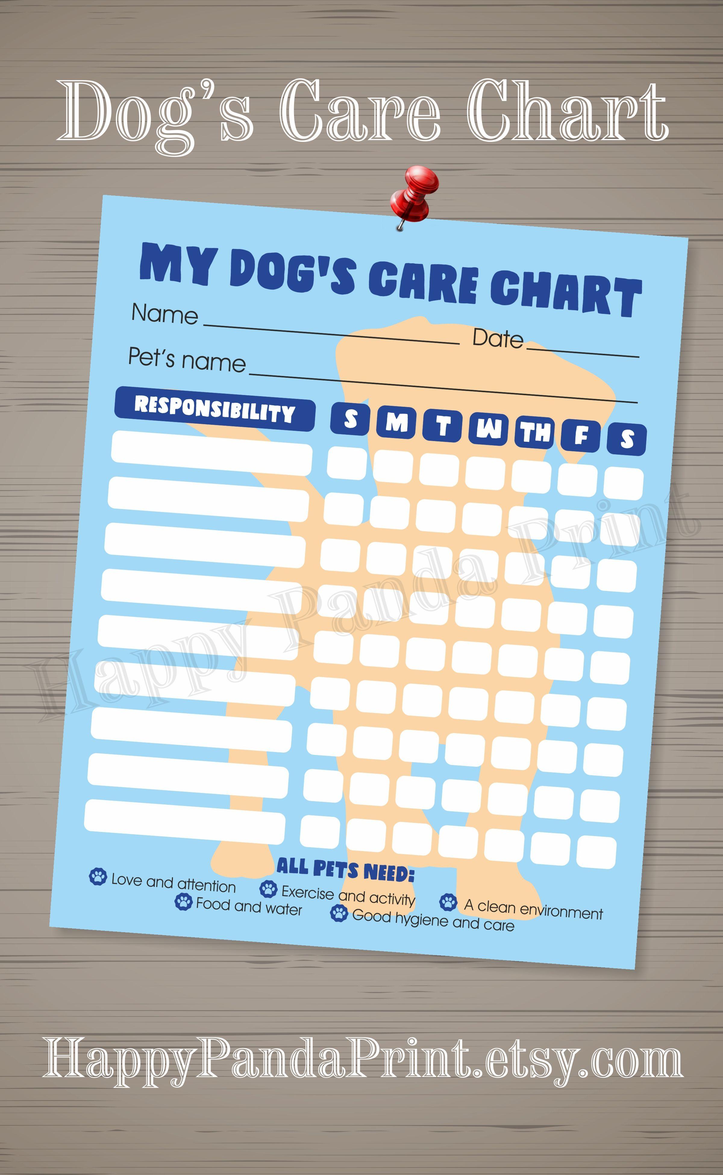 Pet Responsibility Chart Dog Responsibility Chart Dog Care