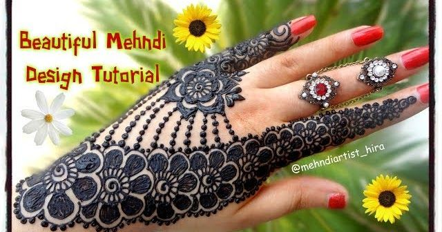Beautiful Henna Mehndi Jewellery : How to apply beautiful latest arabic khaleeji jewellery henna