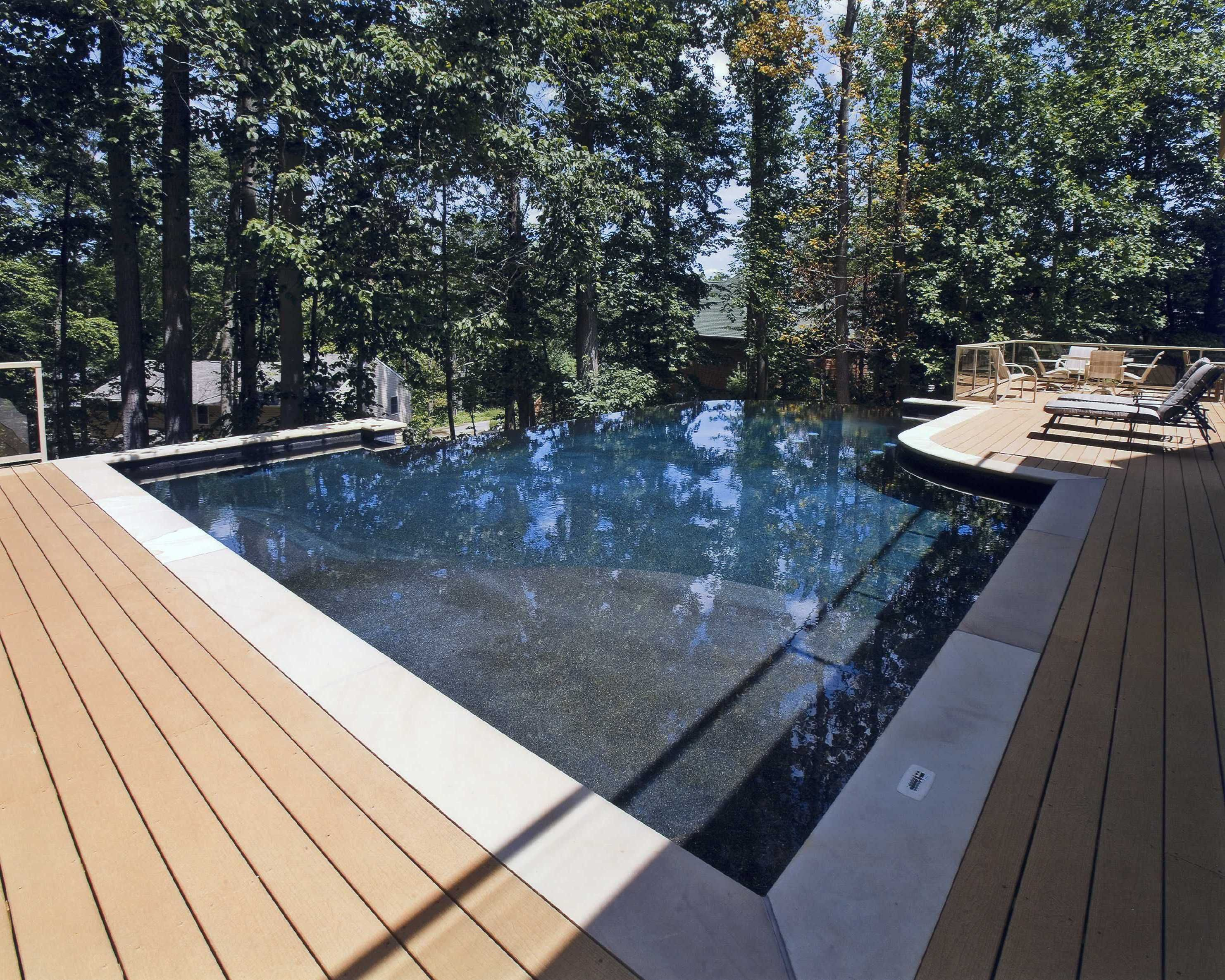 Contemporary Zen Pool Diamond Brite Cobalt - Pool Inspiration -