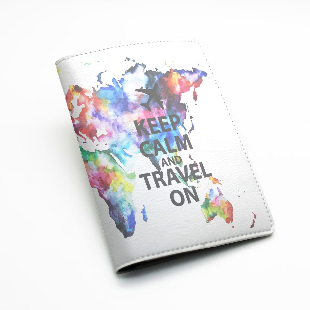 Pu leather passport holder case cover travel wallet colorful pu leather passport holder case cover travel wallet colorful world map design keep calm and travel on or custom quote text l69 from beanbeancase gumiabroncs Choice Image