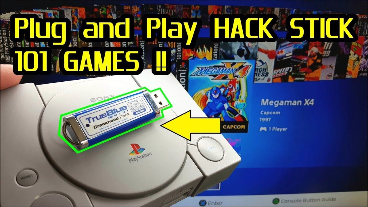 True Blue Mini Hack Stick 101 games for the PlayStation Classic