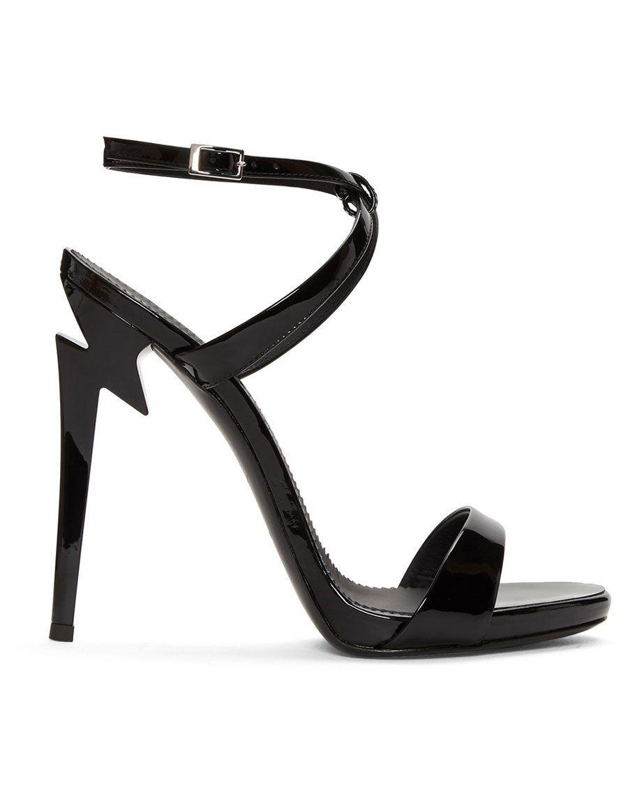 af45d646f6da GIUSEPPE ZANOTTI Black Patent Alien Sandals · VERGLE