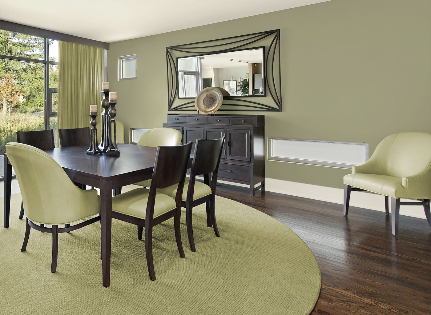 Dining Room Color Schemes dining room in artichoke leaf | dining rooms | roomscolor
