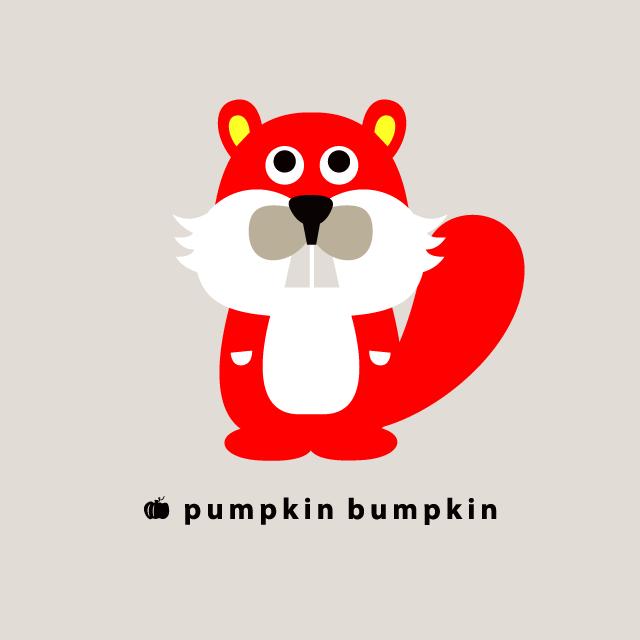 Beaver, pumpkin bumpkin #illustration #painting #drawing #art #design
