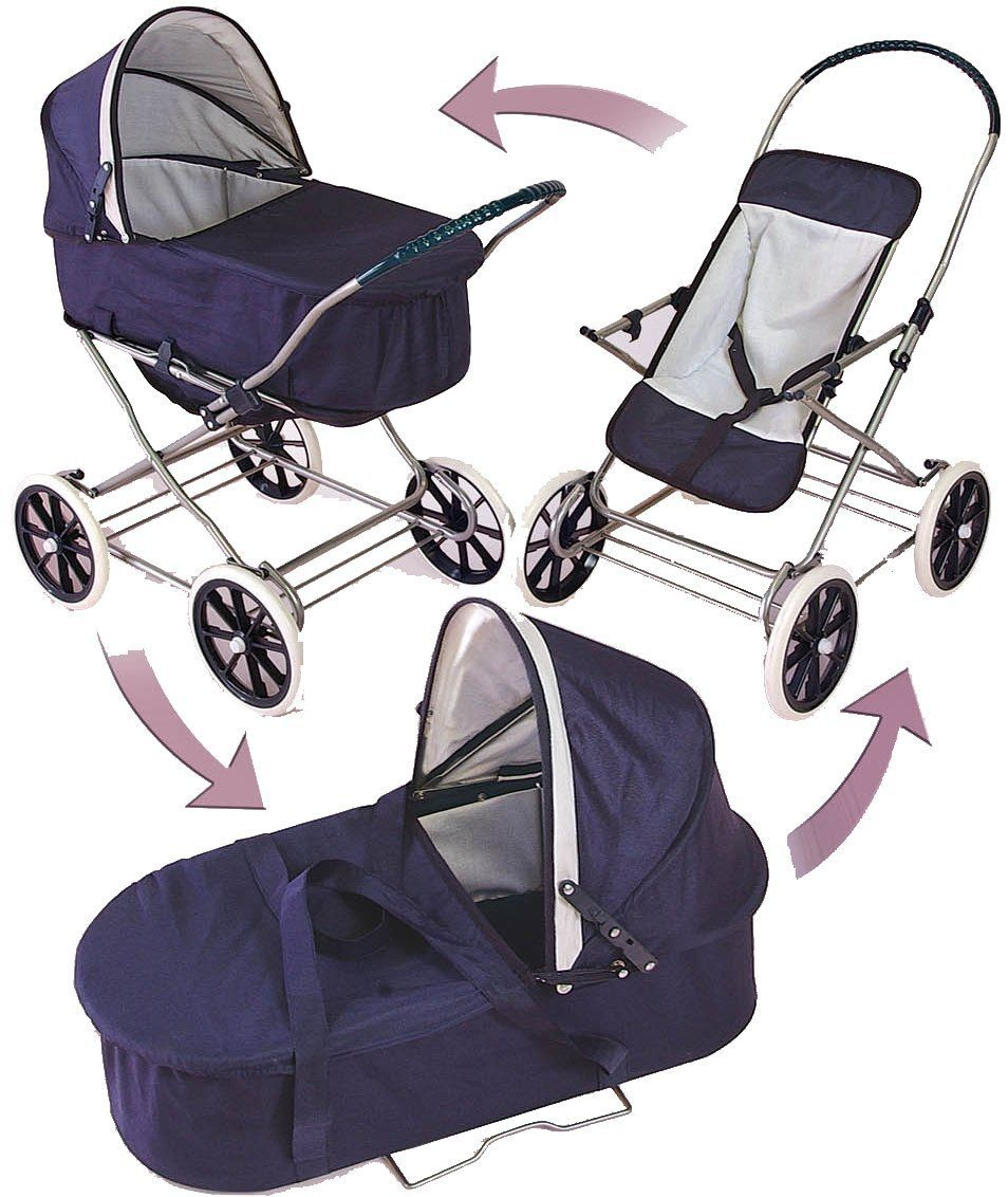 Badger Basket English Style 3in1 Doll Pram Carrier And