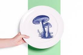 Resultado de imagem para cogumelos na porcelana