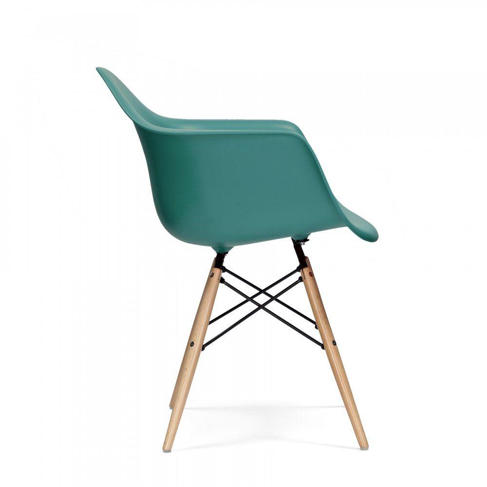 Charles Eames Style DAW Stuhl Türkis