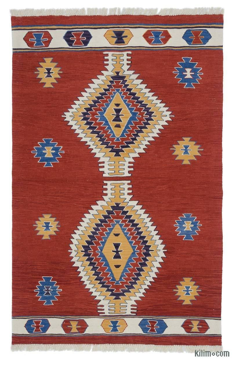 Red New Handwoven Turkish Kilim Rug 4 X 6 3 48 In X 75 In K0048523 Turkish Kilim Kilim Rugs Kilim