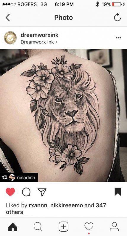 Tattoo back lion thighs 48 Ideas #tattoo