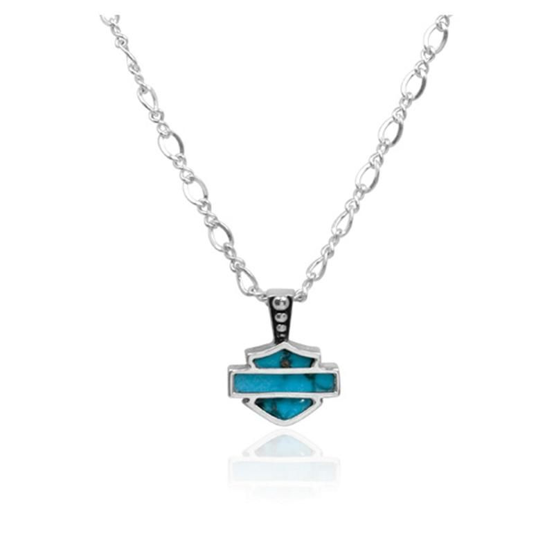 Harley-Davidson® Women's Turquoise Necklace HDN0203 ...