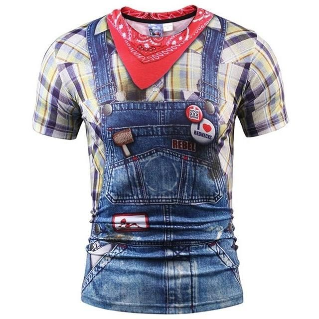 fake farmer jeans tshirt  teeshirteexyz  tee shirt